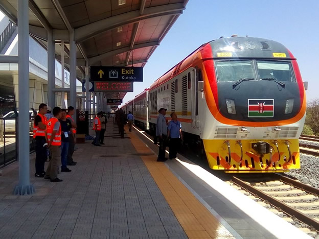 New Standard Guage Railway (SGR) Train in Kenya